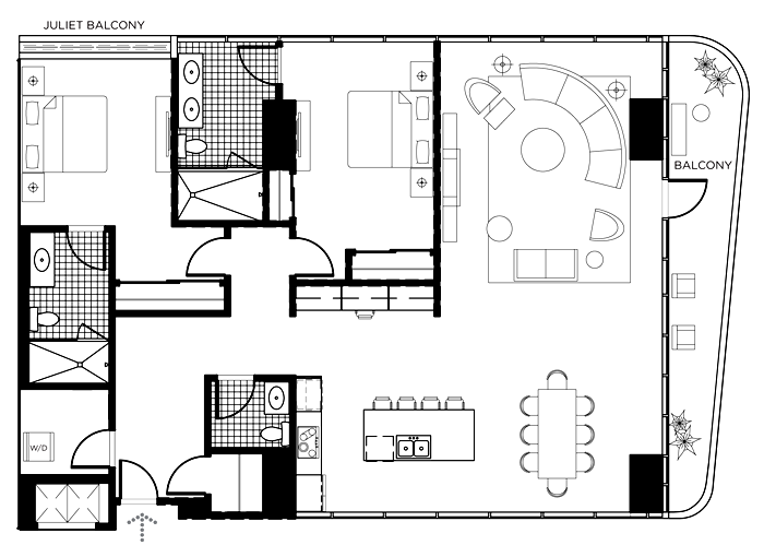 The A Floor Plan In The Martin Las Vegas The Martin Las Vegas - Las vegas floor plans