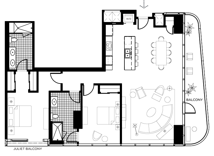 The B Floor Plan In The Martin Las Vegas The Martin Las Vegas - Las vegas floor plans