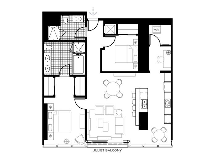 The D Floor Plan In The Martin Las Vegas The Martin Las Vegas - Las vegas floor plans