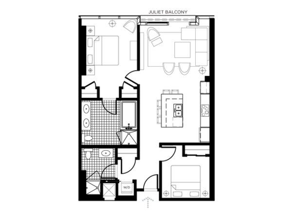 The EFG H Floor Plan In The Martin Las Vegas The Martin - Las vegas floor plans