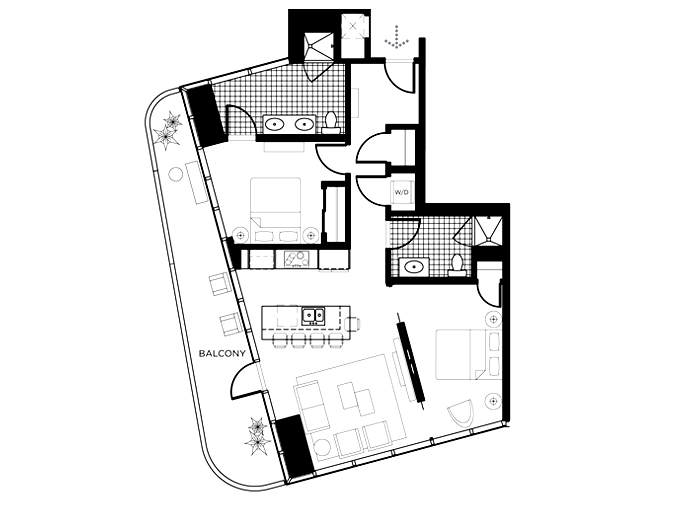 The K Floor Plan In The Martin Las Vegas The Martin Las Vegas - Las vegas floor plans